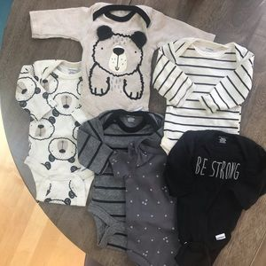 Be Strong, Bears, Stripes, Onesies